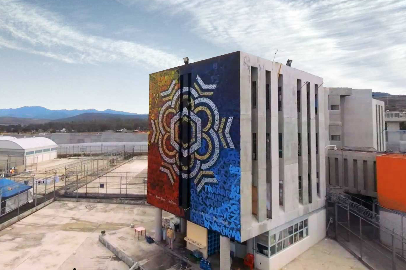 calligraffiti art mural by the mexican artist Said Dokins