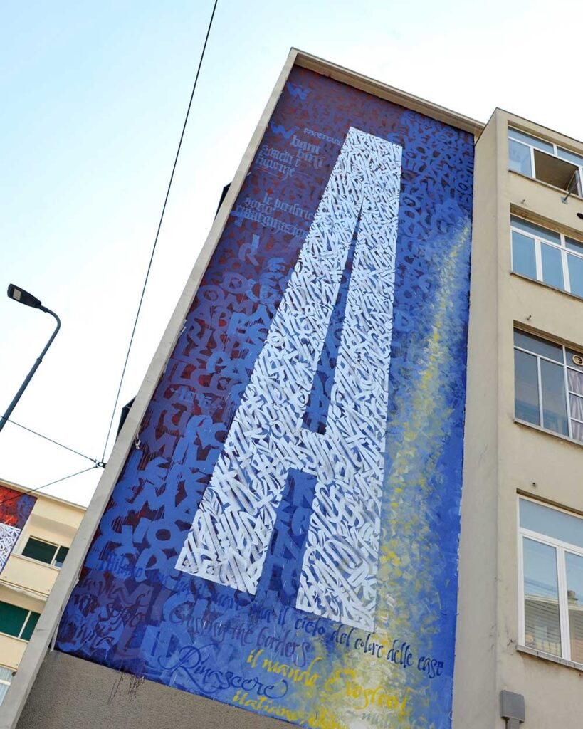 AMA. Calligraphy mural by Said Dokins in Milano