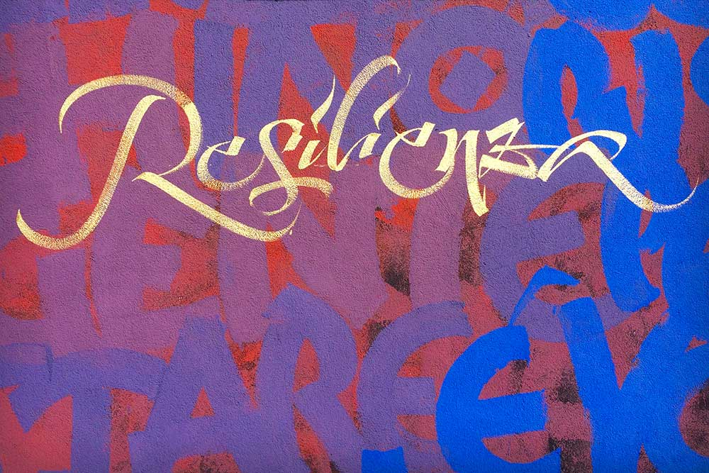 Public Art. Resilienza. Part of the calligraphy mural by Said Dokins in Milano
