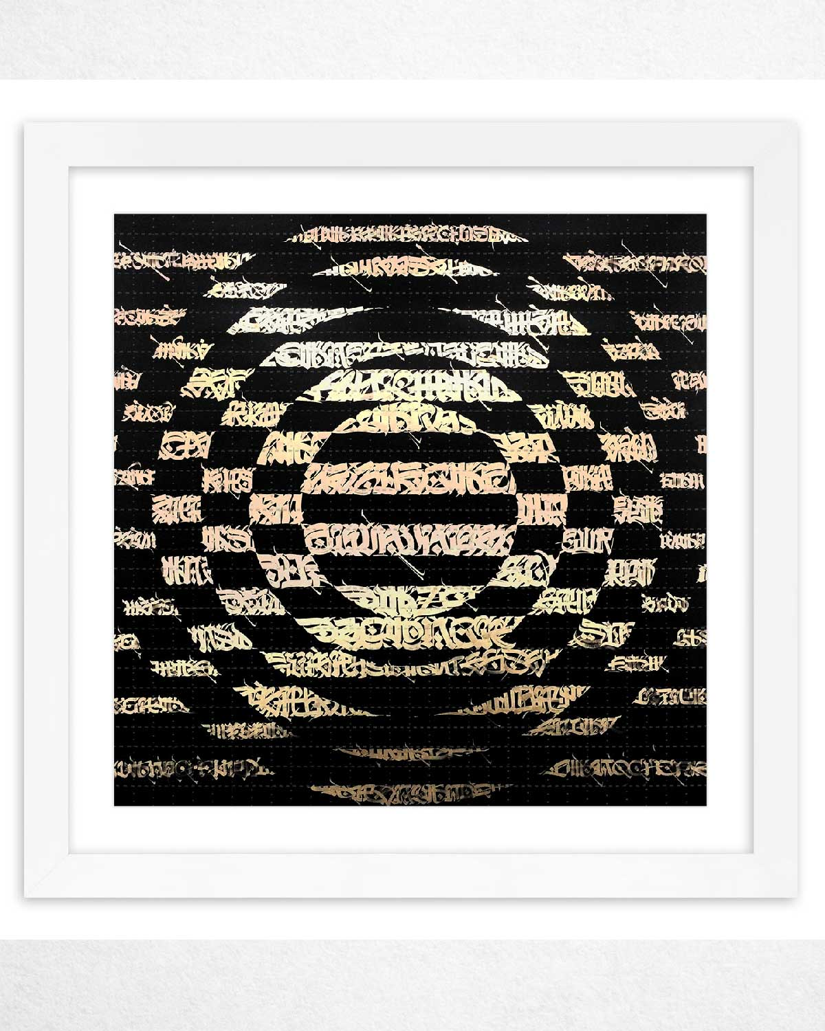 Calligraphy Letter Print blotter paper by Said Dokins El Ocaso