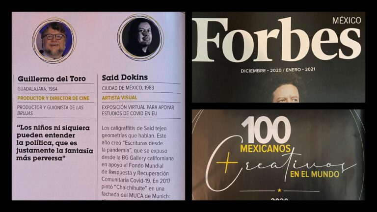 Forbes MX. Said Dokins among the Top100 Most Creative Mexicans in the World 2020