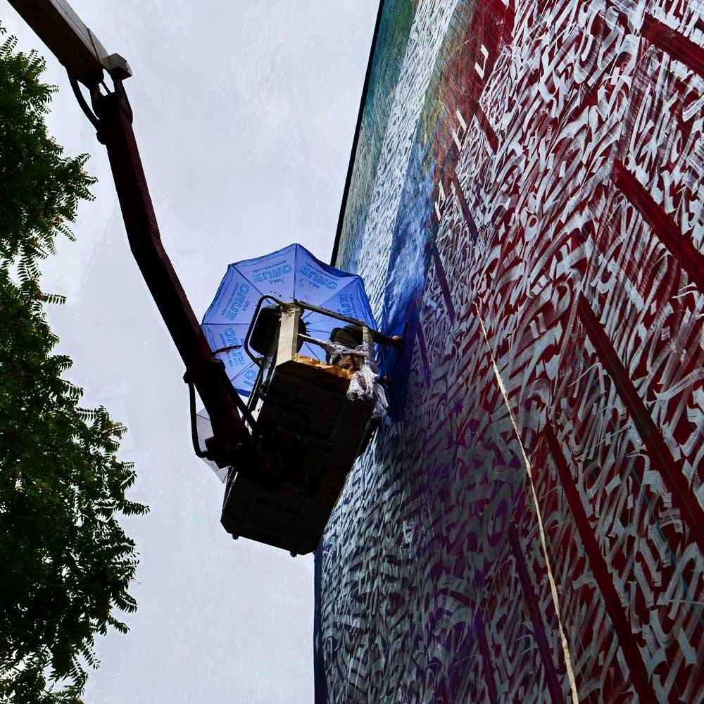 Eclipse Said Dokins calligraphy calligraffiti mural vienna 5