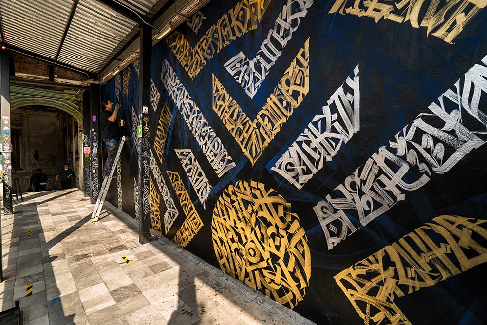 calligraphy art mural street artist said dokins panteon 02